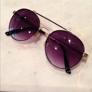 Lucky Sunglasses rounded aviator style